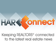 "HAR Connect logo with tagline ""Keeping REALTORS® connected to the latest real estate news."""